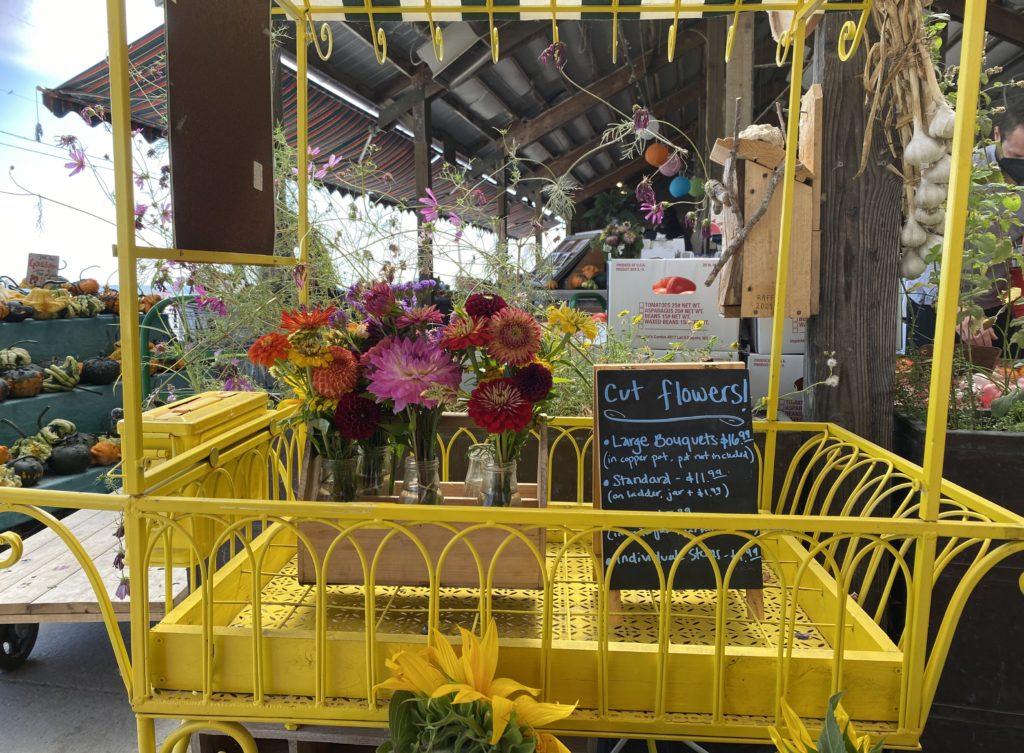 Fresh cut flowers at Snow Goose Produce near Seattle